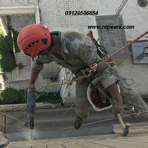 پیچ و رولپلاک نما با طناب در تهران