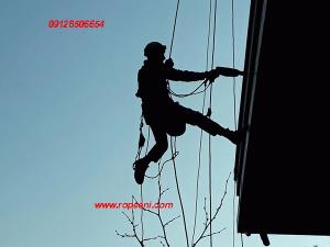 محکم سازی سنگ نما با طناب