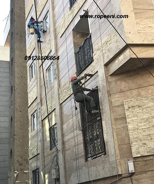 پیچ و رولپلاک نما با طناب